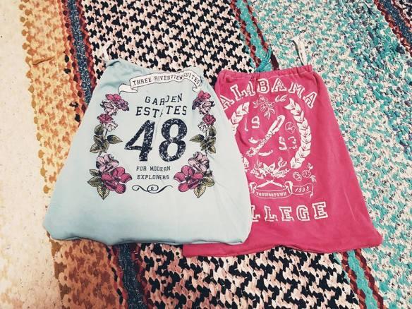 Kestohedelmäpussi vanhoista t-paidoista